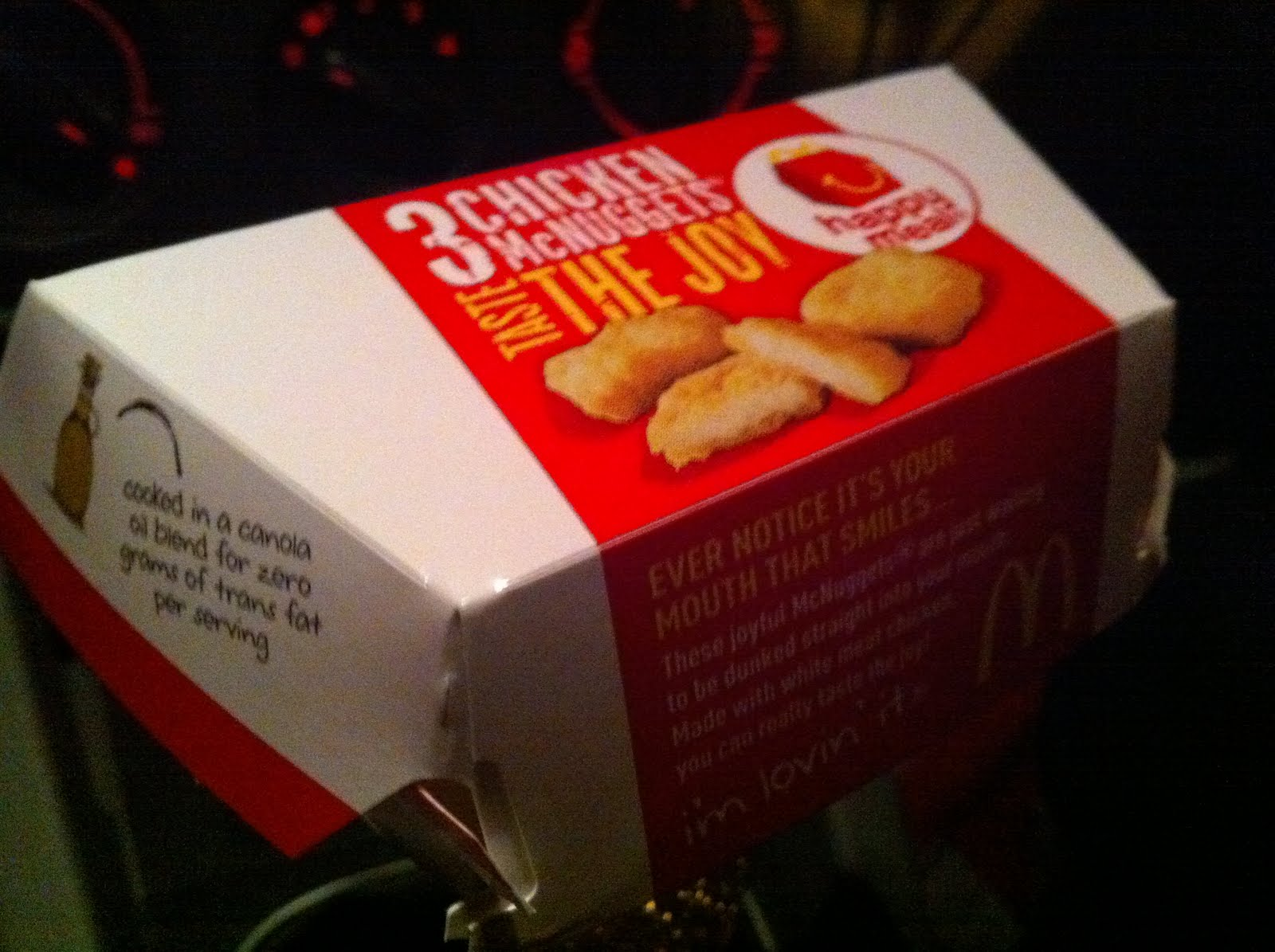 Chicken Nuggets Mcdonalds Box