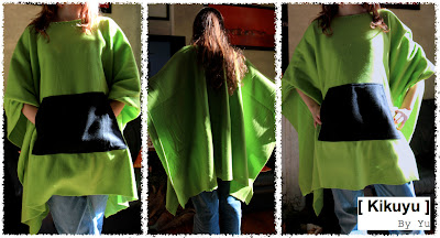 poncho polaire fleece
