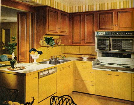 Ashen lady kitchens of the 60s for 70s style kitchen cabinets