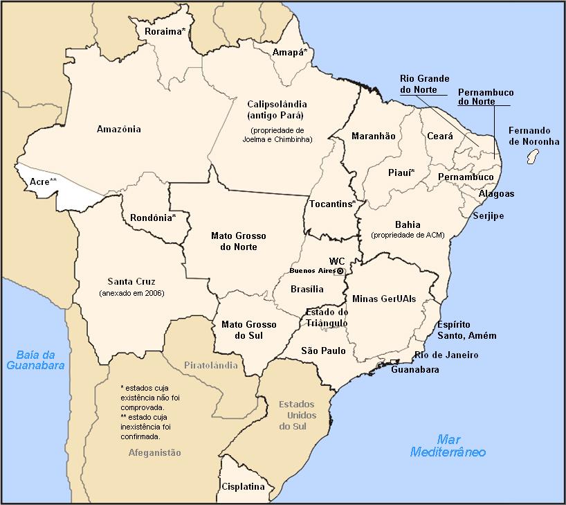 Mapa descíclope da República
