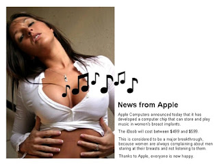 iBoob Breast Implant MP3 Player image