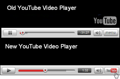 Old vs new youtube video players