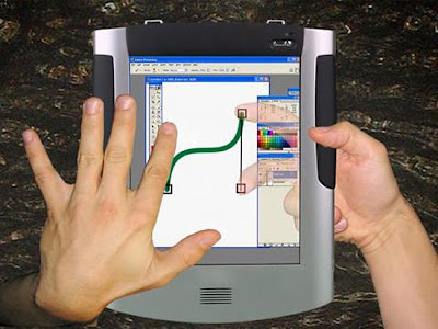 Microsoft LucidTouch transparent touch screen device