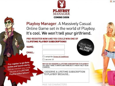 Playboy Manager Online Game Snapshot