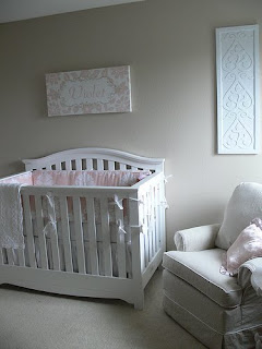 We Just Completed A Full Nursery Make Over For Baby Violet In Subtle Natural Shades Of Linen White And Pink The Room Decor Is Modern Twist On Shabby