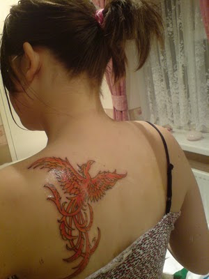 bird tattoos on back