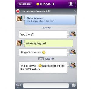 Yahoo! Messenger pour iphone