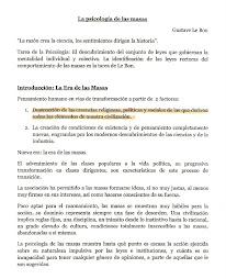 Psicología de las Masas. Gustave Le Bon