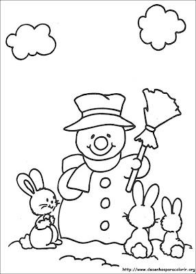 natal 87 Para colorir Natal para crianças
