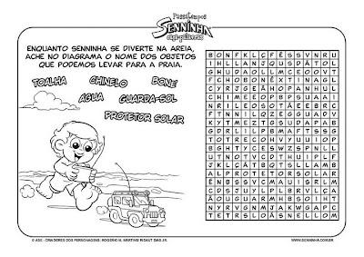 19+0 Cruzadinhas e Caça palavras para crianças
