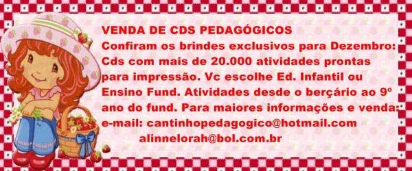 ♥♥♥VENDO CD DE ATIVIDADES PEDAGÓGICAS♥♥♥