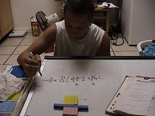 base ten blocks fractions