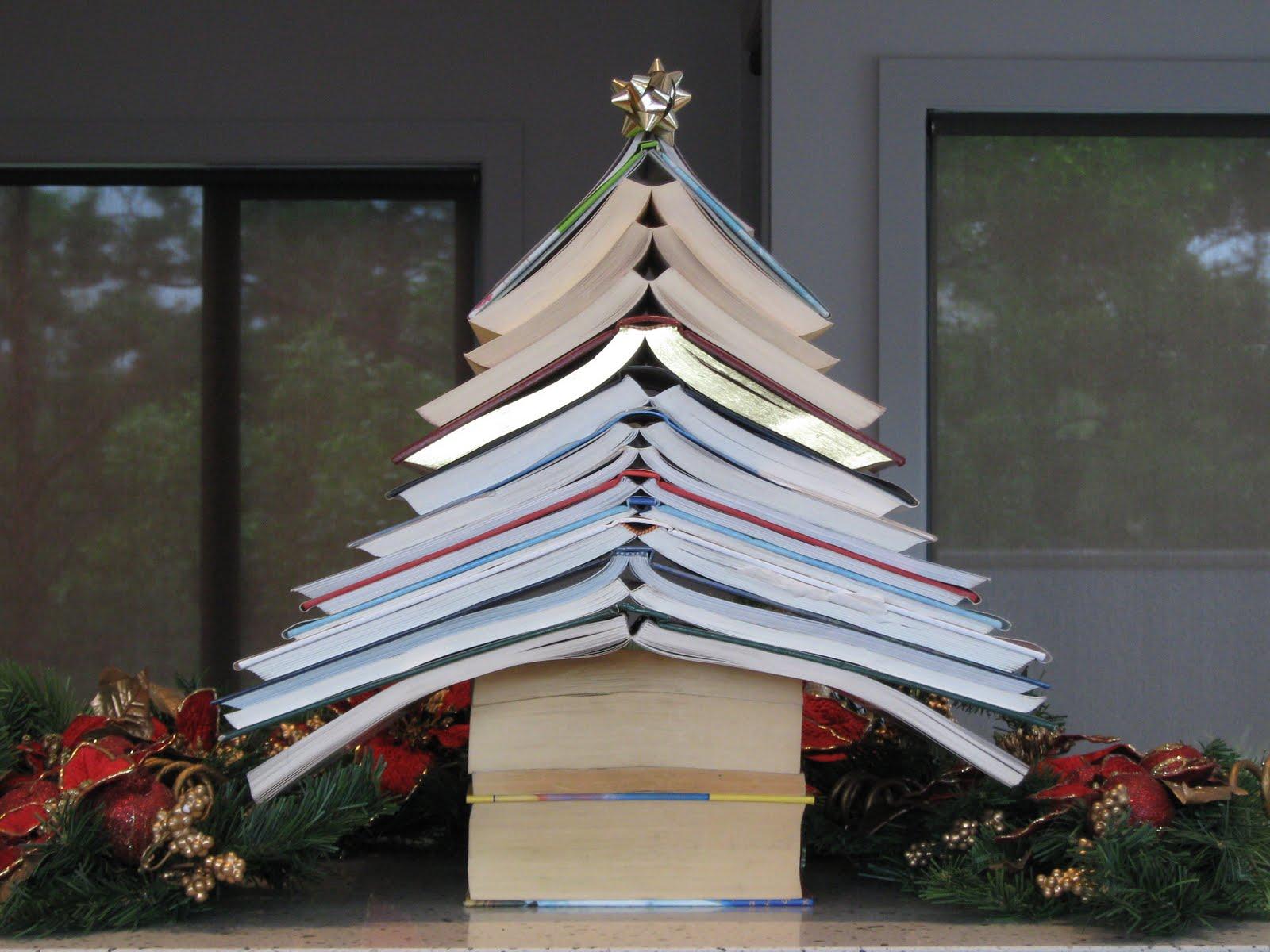 a christmas book tree - Christmas Tree Book