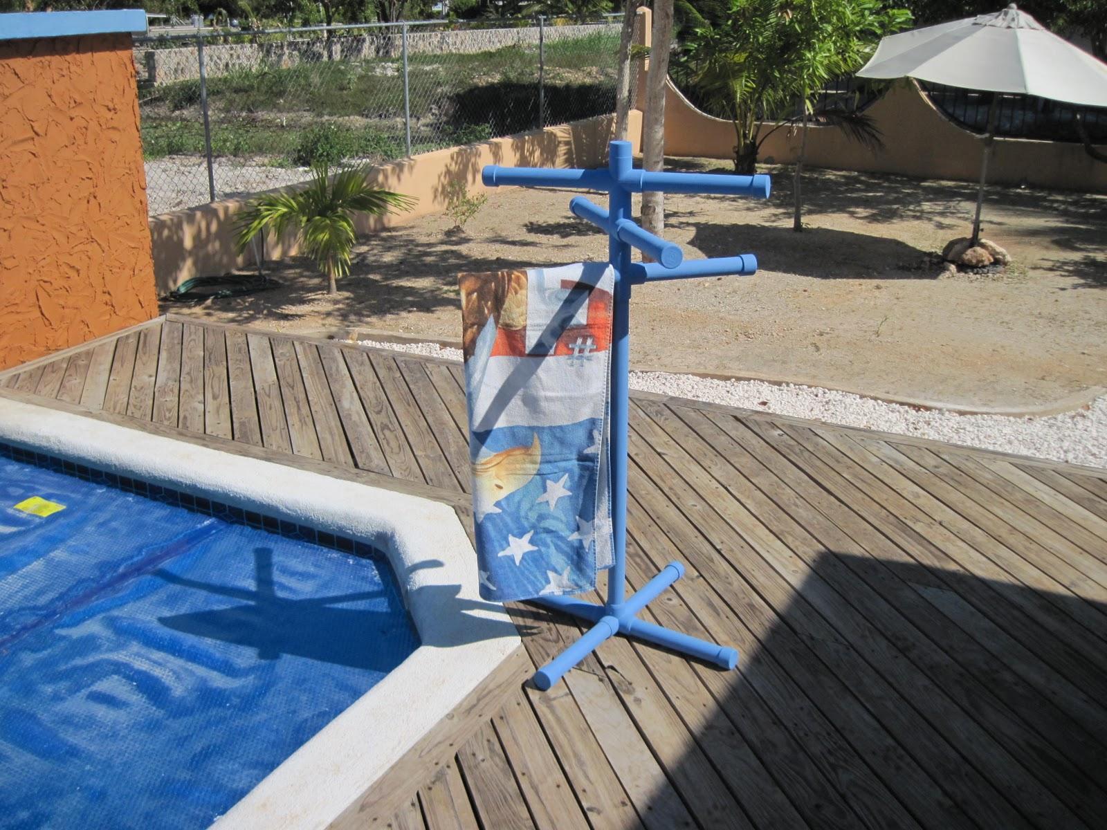 PVC Pipe Pool Towel Rack
