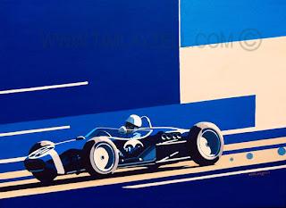 Nardi Torino Tim Layzell Automotive Art