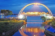 Raibow Bridge- Cochin-A Night View