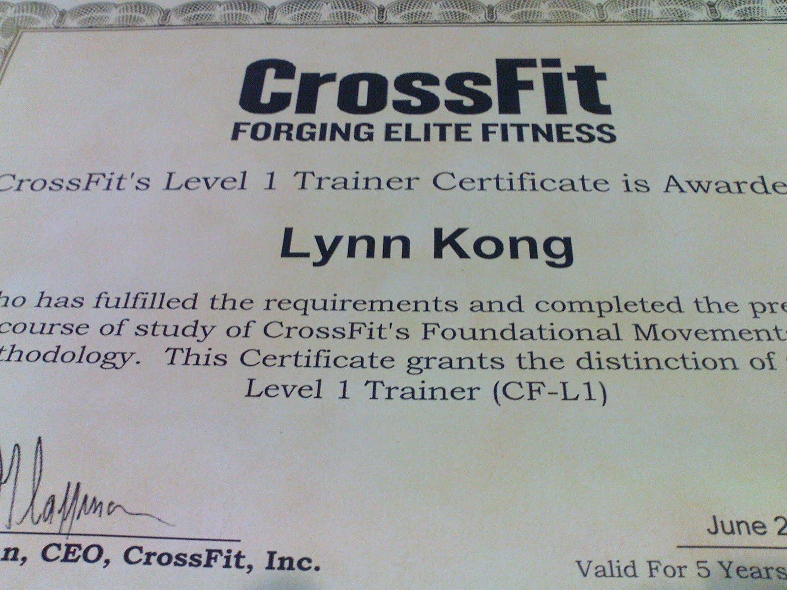 crossfit certificate level padi athlete chilli