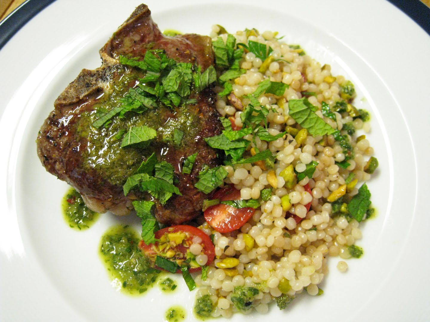 Straight No chaser: Lamb Loin Chops with Salsa Verde and Mediterranean ...