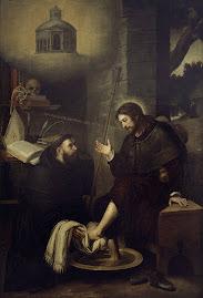 S. Agustín lava los pies al Señor