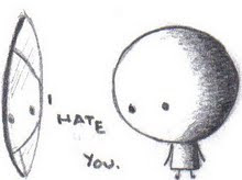 *It hates me*