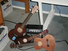 I love playing the ukulele