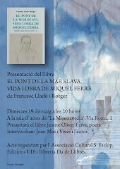 """Presentació a Palma de """"El pont de la mar blava"""" de Francesc Lladó"""