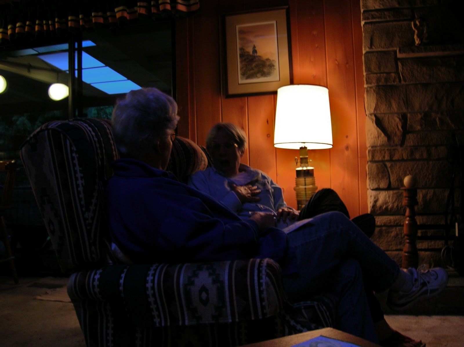 I enjoyed hearing the quiet evening drone of adult conversations and stories ...