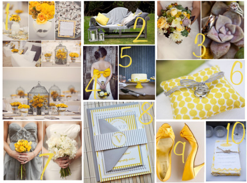 Yellow and Grey Wedding Decor - Kate Whelan Events : Kate Whelan Events