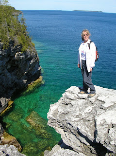 Janie hiking the Bruce Trail.  Photograph by Brian Quinn.