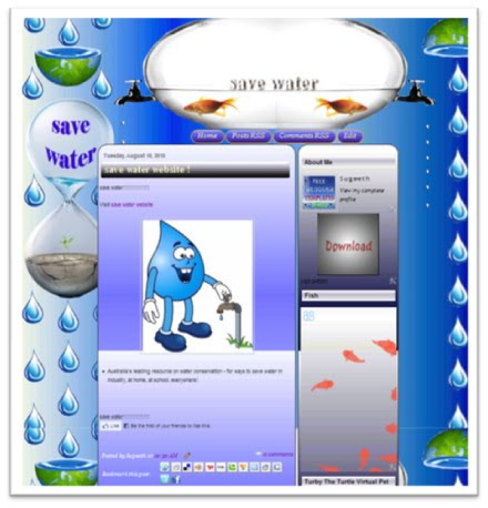 2k6351 Free Blogger Templates Save Water Two Coloum Blogger Template