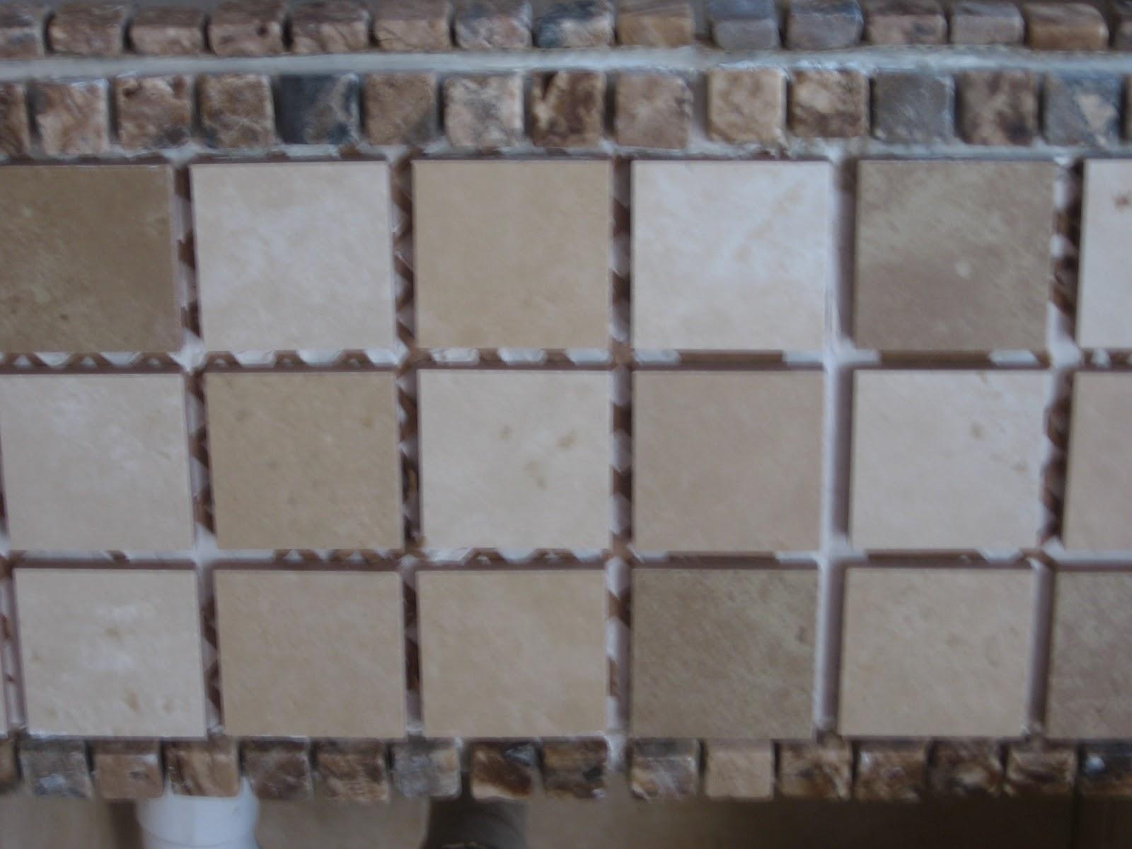 Bachas Para Baño Con Venecitas:Una vez adheridos los mosaicos y venecitas esperar que seque