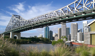 City view from Howard Smith Wharves