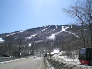 Spring snow, Stowe, VT