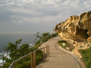 Coastal walkway, sandstone