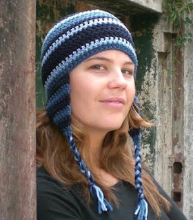 ORINOCO, crocheted ear-flap hat