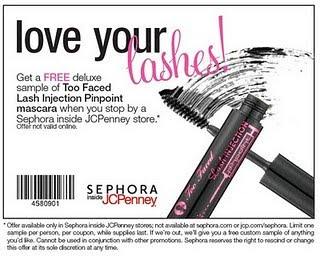 Free sample sephora jcpenny mascara beauty
