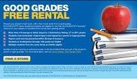 Blockbuster rental free good grades