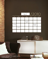 Simple Shapes Dry Erase Calendar