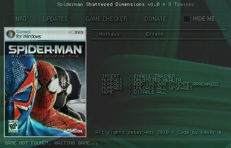 Скачать Трейнер Для Spider Man Shattered Dimensions - фото 2