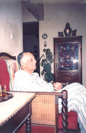 Daddy at home in pyjamas, watching TV - 1993