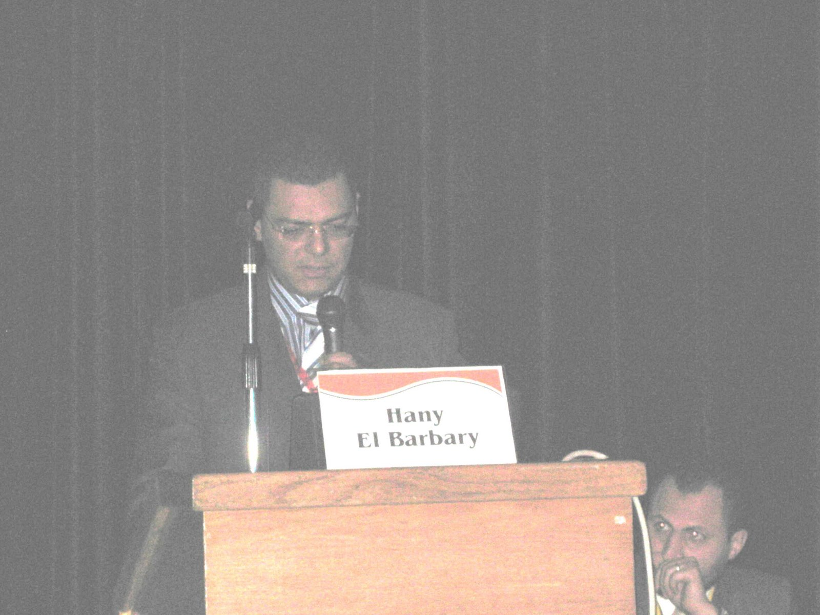 Hany in First Prize Acceptance Speech
