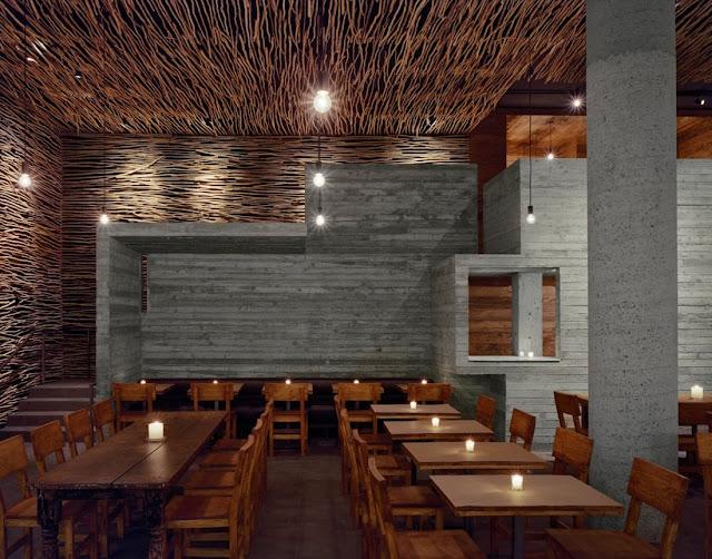 Amassing design pio pio restaurant sebastian marsical - Interiores de restaurantes ...