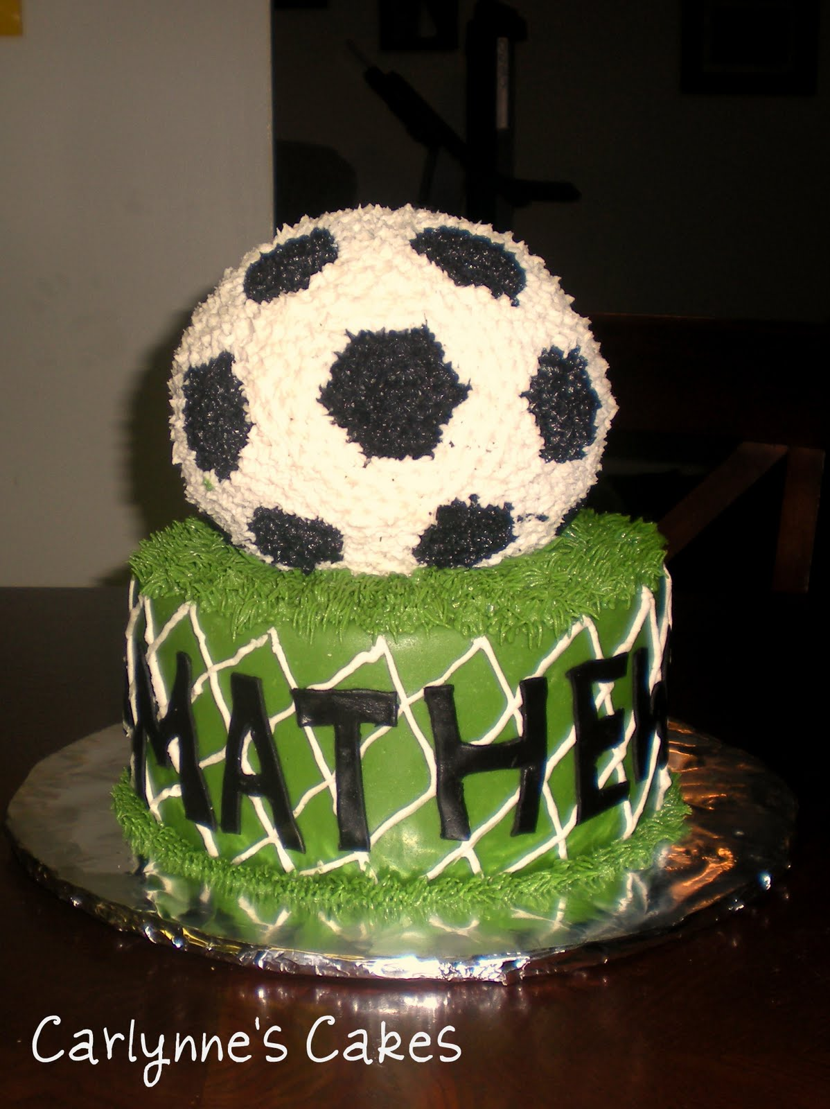 Images Of Soccer Cake : Carlynne s Cakes: Soccer Cake