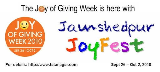 Joy of Giving Week: Jamshedpur JoyFest 2010