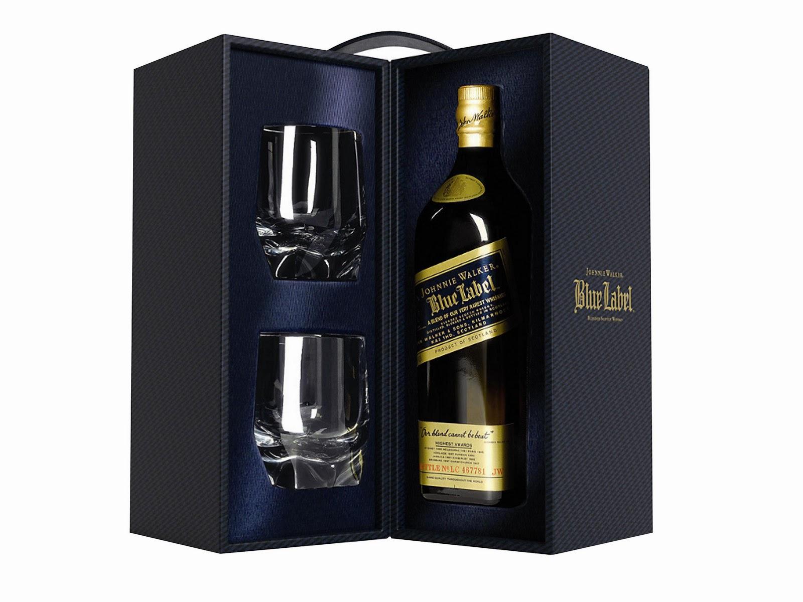 johnnie walker blue label el whisky súper deluxe de la línea johnnie