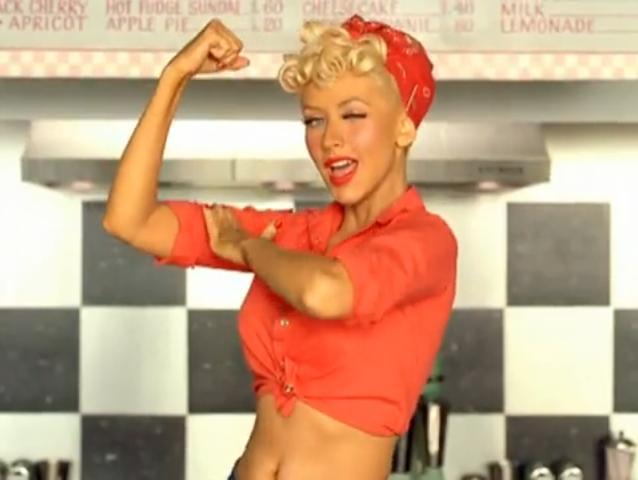 christina aguilera candyman pink dress. Aguilera (Candyman), Pink