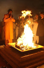 Yagna for mother Earth conduct by Swami Vishwananda