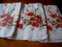 Vintage Tablecloths Poppies
