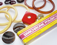 Simichrome Bakelite Buttons Bangles