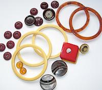 Vintage Bakelite Buttons Bangles Buckle